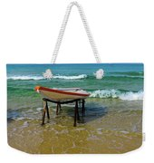 Rescue Boat In Anticipation Of Work Weekender Tote Bag