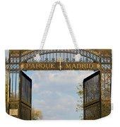 Retiro Park Entrance In Madrid Weekender Tote Bag
