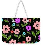 Retro Florals Weekender Tote Bag by Louisa Knight