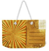Retro Grunge Ray Postcard Weekender Tote Bag