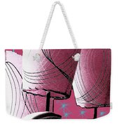 Retro In Pink Weekender Tote Bag
