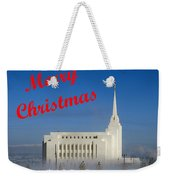 Rexburg Temple Christmas Weekender Tote Bag