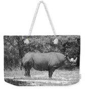 Rhino In Black And White Weekender Tote Bag