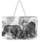 Rhinoceros Fight, 1875 Weekender Tote Bag