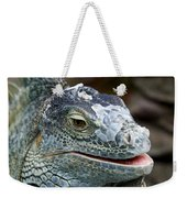 Rhinoceros Iguana Weekender Tote Bag by Fabrizio Troiani