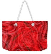 Ribbons Of Red Abstract Weekender Tote Bag