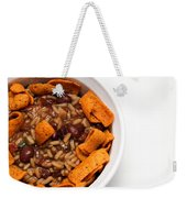 Rice And Beans With Chile Cheese Fritos Weekender Tote Bag