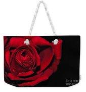 Rich Red Rose Weekender Tote Bag
