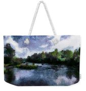 Rideau River View From A Bridge Weekender Tote Bag