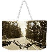 Riders Eye Veiw In Sepia Weekender Tote Bag