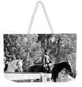 Riding Soldiers B And W II Weekender Tote Bag
