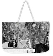 Riding Soldiers B And W IIi Weekender Tote Bag
