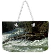 Riding The River Weekender Tote Bag