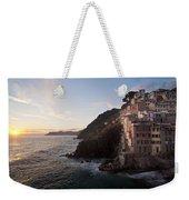 Riomaggio Sunset Weekender Tote Bag