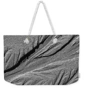 Ripples In The Sand Black And White Weekender Tote Bag
