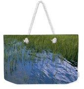 Rippling Water Among Aquatic Grasses Weekender Tote Bag