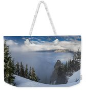 Rising Mists From Crater Lake Panorama Weekender Tote Bag
