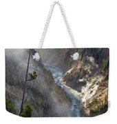 Rising Mists From Grand Canyon Of The Yellowstone Weekender Tote Bag
