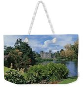 River In Front Of A Castle, Johnstown Weekender Tote Bag