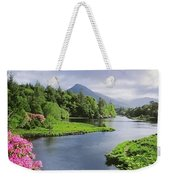 River Leading To A Mountain Weekender Tote Bag
