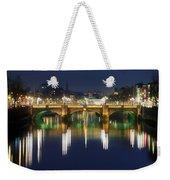 River Liffey At Night, Oconnell Street Weekender Tote Bag