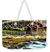 River Rock And A Grist Mill Weekender Tote Bag