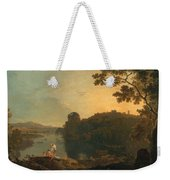 River Scene- Bathers And Cattle Weekender Tote Bag