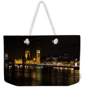 River Thames And Westminster Night View Weekender Tote Bag