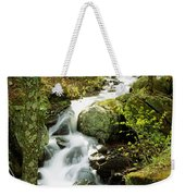River With Trees In The Forest Weekender Tote Bag