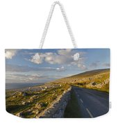 Road Along The Burren Coastline Region Weekender Tote Bag