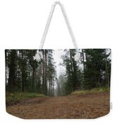 Road In A Pine Grove Weekender Tote Bag