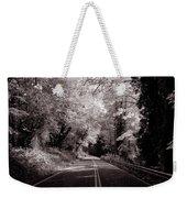 Road Through Autumn - Black And White Weekender Tote Bag