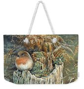 Robin Christmas Card Weekender Tote Bag