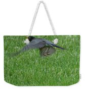 Robin With A Low Level Approach Weekender Tote Bag