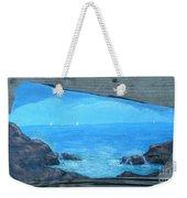 Rock Painting-ocean Sailboats Weekender Tote Bag