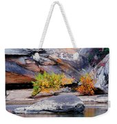 Rock Shrub And Bluff At Cumberland Falls State Park Weekender Tote Bag