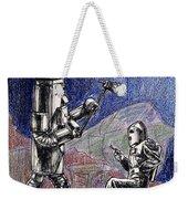 Rocket Man And Robot Weekender Tote Bag