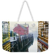 Rockport Harbor And Cages Weekender Tote Bag