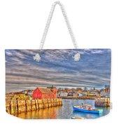 Rockport Water Color - Greeting Card Weekender Tote Bag