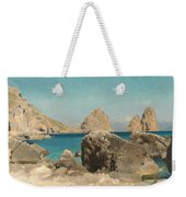 Rocks Of The Sirens Weekender Tote Bag by Frederic Leighton
