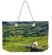 Rocky Mountain Goat Glacier National Park Weekender Tote Bag
