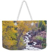 Rocky Mountain Golden Canyon Scenic View Weekender Tote Bag