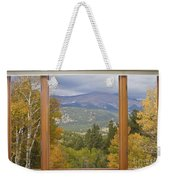 Rocky Mountain Picture Window Scenic View Weekender Tote Bag