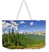 Rocky Mountain View From Mount Revelstoke Weekender Tote Bag