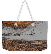 Rocky Mountain Winter Weekender Tote Bag