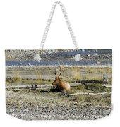 Rocky Mountains Elk Weekender Tote Bag
