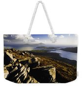 Rocky Vista Of Shoreline Weekender Tote Bag