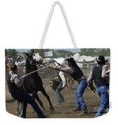 Rodeo Wild Horse Race Weekender Tote Bag