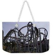 Roller Coaster Rides Inside The Universal Studio Park In Sentosa Weekender Tote Bag