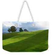 Rolling Green Fields At End Of Day  Weekender Tote Bag